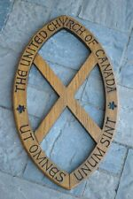 Beautiful Solid OAK Wood Carving - United Church of Canada