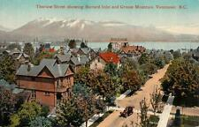 Photo. ca 1913. Vancouver, Canada. Sky View of Thurlow St