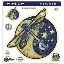 A036 - Yin Yang Dragonfly Sun Moon Batik Art Decal Window Sticker