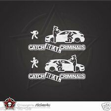 (1058) Catch Real Criminals Audi A3 8V Sticker Aufkleber  quattro s line S3
