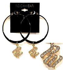 """ROCAWEAR 3.5"""" Fashion Earrings (MSRP:$18) - NWT"""