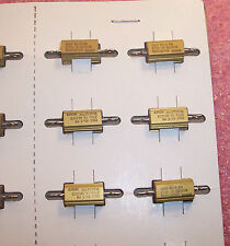 QTY (5) 270 Ohm 5W 1% MIL-SPEC ALUMINUM HOUSED CHASSIS MOUNT RESISTOR RE60G2700