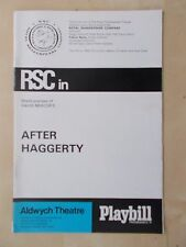 1960's ALDWYCH THEATRE PROGRAMME - AFTER HAGGERTY - FRANK FINLAY JOHN WHITE