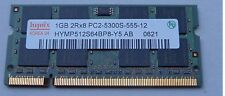 SODIMM RAM 1GB PC2-5300S-555-12 DDR2-667Mhz hynix 2Rx8 HYMP512S64BP8-Y5 LAPTOP