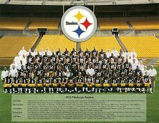 PITTSBURGH STEELERS 2013 SEASON COLOR 8X10 TEAM PHOTO/W 2013 TEAM VIDEO DVD