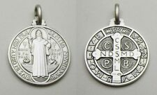 St. Benedict Medal Sterling Silver (925) - 25mm - Italy