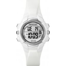 Ladies Timex Marathon Indiglo Digital Alarm White Rubber Sports Watch T5K806