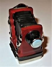 LIMOGES BOX - ROCHARD - ANTIQUE ACCORDION STYLE OR FOLDING CAMERA - PHOTOGRAPHY