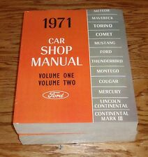 1971 Ford & Mercury Car Shop Service Manual 5 Volume Set Mustang 71