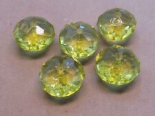 5 Lime Green FAceted 23x15mm  Acrylic Beads(G70J10)