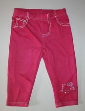New Princess Glitter Hello Kitty Pink Capri Denim Leggings Size 5 Kid NWT Girls