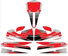 CUSTOM M4 FULL KART STICKER KIT - RED - KARTING