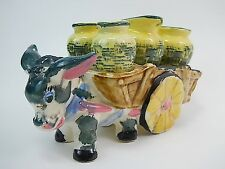 Vintage Relco Ceramic Mexican Burro Donkey Salt and Pepper Creamer and Sugar WT