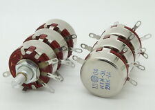 2 x Full Size Triple Gang 220K Ohm 2W 2Watt Audio Carbon Potentiometer Pot