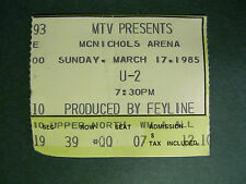 1985 U2 TICKET STUB -The Unforgettable Fire Tour- Denver, CO 3-17-1985
