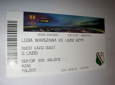 used ticket LEGIA Warsaw - LAZIO Roma 28.11.2013 original ticket