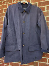 Polo Ralph Lauren canvas jacket coat mens sz L corduroy collar blue button-front