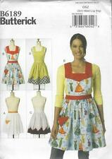 BUTTERICK SEWING PATTERN MISSES' APRONS SIZE SML MED LRG XIG  B6189