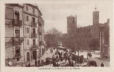 CPA -34-  CLERMONT-L'HERAULT - Le Planol (un jour de marché).