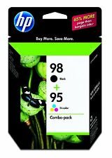 HP Genuine 98 Black + 95 Color Set of 2 Ink Cartridges