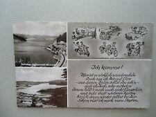 Ansichtskarte Schluchsee Schwarzwald Panorama Karikatur 50er?