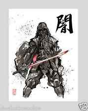 Star Wars Darth Vader Samurai Japan art print movie poster lightsaber