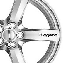 6x Megane Alloy Wheels Decals Stickers Adhesives Premium Quality Car Sticker