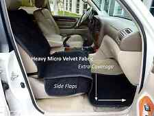 "Heavy Micro Velvet single car seat cover 21""Wx72""L Black"