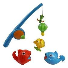 Toddler Toy Rod Reel Fishing Game Bath Set For Kids W/ Fish Pole Pretend Play Pr