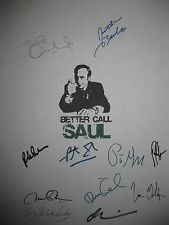 Better Call Saul Signed TV Script Bob Odenkirk Jonathan Banks Vince Gilligan rpt