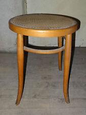 rare ancien tabouret signé BAUMANN en bois courbé assise cannée bistrot pub