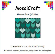 MosaiCraft Pixel Craft Mosaic Art Kit 'Hearts Jade' (Like Paint by Numbers)
