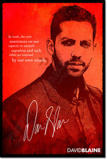 DAVID BLAINE ART PHOTO PRINT POSTER GIFT MAGIC MAGICIAN QUOTE