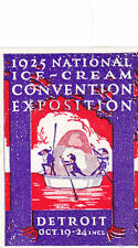 Vintage Label NATIONAL ICE CREAM CONVENTION EXPO Detroit 1925 elves  #IM