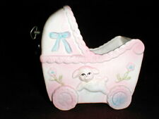 My Neil Bassinet/CRADLE/Crib Music Box Rock a Bye Baby Lullaby Lamb Planter Cute