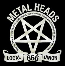 METALHEADS UNION Local 666 PENTAGRAM SHIRT XL New heavy metal