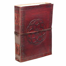 Fair Trade Handmade Indra Celtic knot Leather Journal Notebook Diary 2nd Quality