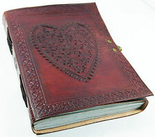 Large Vintage Heart Embossed Leather Journal Diary/Instagram Photo Album-10% off