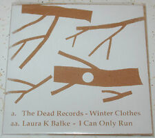 Dead Records/Laura K Balke split 45 (small hole) Winter Clothes/I Can Only Run M