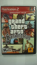 Grand Theft Auto: San Andreas Sony PlayStation 2 2004 PS2 Violent Drive Game