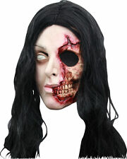Pretty Woman Mask Adult Latex Zombie Missing Flesh Gore Halloween Scary Infected