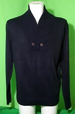 "RIVER ISLAND ** MENS Navy Thin Knitted JUMPER SWEATER Large 41-43""  Free UK Post"