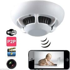 WiFi Spy Hidden Camera Cam Smoke Alarm Detector DV Video Voice DVR Motion