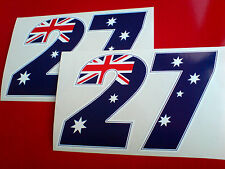 CASEY STONER #27 Car Van Motorcycle Fairing Stickers Decals  2 off 145mm wide