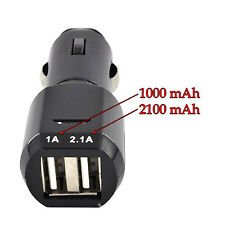 Dual 2-Port USB Car Charger Adapter for iPod Touch, HTC, Blackberry, Samsung, LG