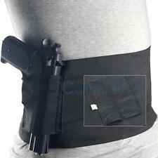 Concealed Carry Belly Band Holster With 2 Mag Magazine Pouch For Glock 23 Sig226