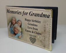 Personalised faux leather photo album, memory book, Grandma birthday memories