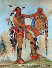 Ah-mou-a, The Whale, Sauk Fox Sioux - 1835 - George Catlin Art Print