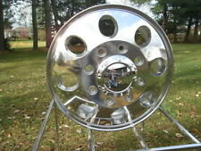 "4) 16"" FORD "" E "" SERIES AND GMC CHEVY G MOTORHOME DUALLY POLISHED WHEELS w/lugs"