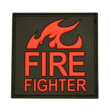 PATCH JTG 3D GOMME FIRE FIGHTER ROUGE AIRSOFT POMPIERS MILITAIRE INSIGNE